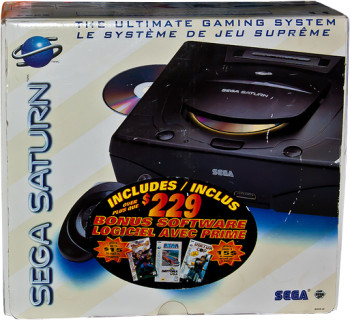 SEGA Saturn USA Second Version 3-Pack Bundle