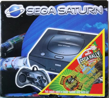 SEGA Saturn Second Version SEGA Rally / Worldwide Soccer 97 Bundle