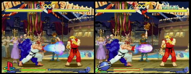 SEGA Saturn vs. PlayStation Comparison Street Fighter Alpha 2